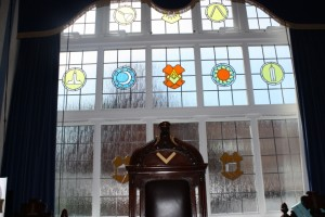 New stained glass window  in the Lodge Room